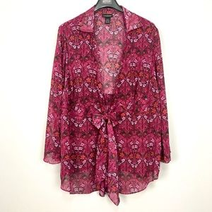 Lane Bryant Kimono Style Bell Sleeve Wrap Cover Up